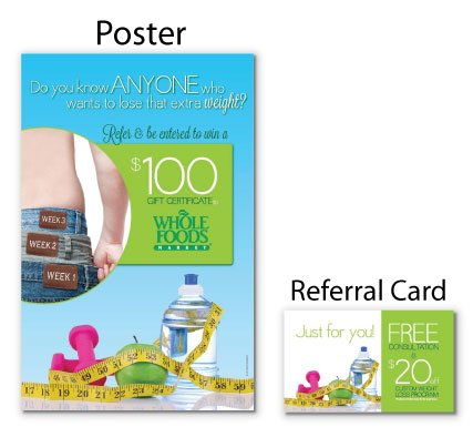 3 Jeans Weight loss Autumn fall harvest referral booster chiropractic postcards campaign boost referrals marketing personal injury advertising free consultation