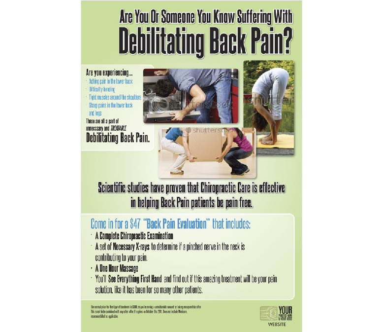 Back Pain Educational Poster