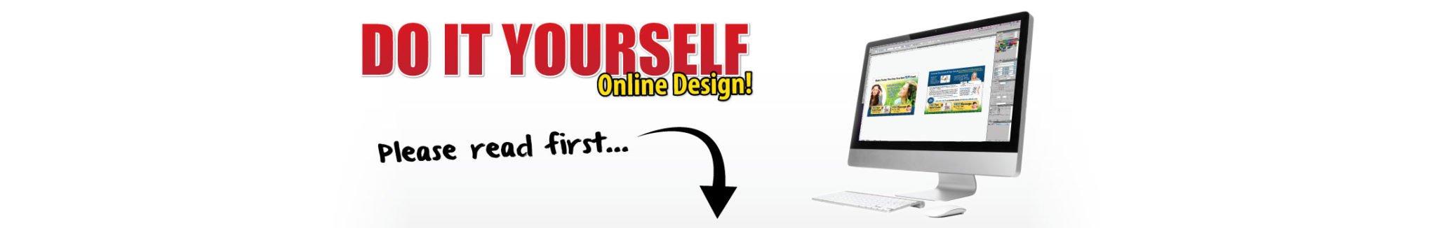 diy online design, chiropractic print materials